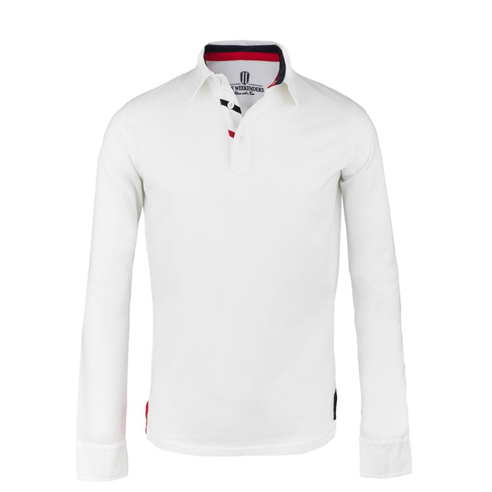 79929d7998 The Driver - Polo Manches Longues Hommes - Blanc   Weekenders.fr